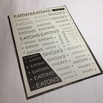 The T. Eaton Co Limited,  Logo Sheet - Advertising