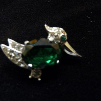 Emerald Bellied Pave Duck - Costume Jewelry