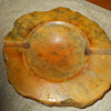 Vintage ITALY Genuine ALABASTER Large Heavy Ashtray