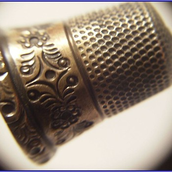 Sterling Silver THIMBLE - Sewing