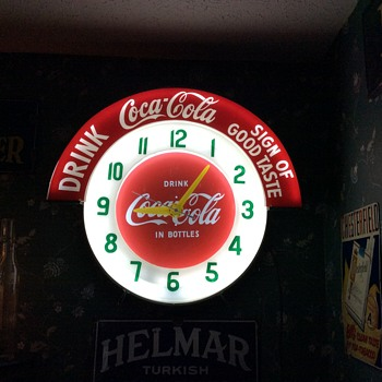 Coca-Cola Neon Cleveland Clock - Coca-Cola