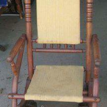My two Platform Rockers from the 1800s. - Furniture