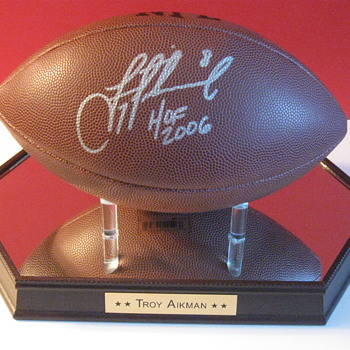 Troy Aikman . . . Signed Football