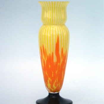 WELZ Lines and Spots Vase - Art Glass