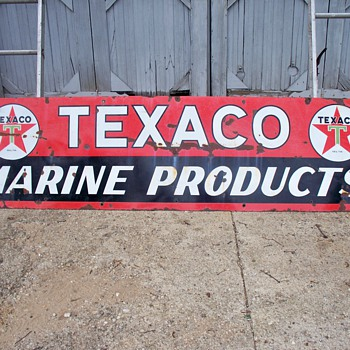 large Texaco gas station sign 25&quot;by8ft - Signs