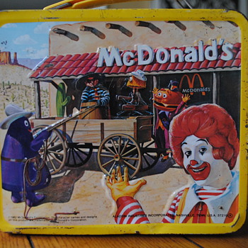 1982 McDonald&#039;s Tin Lunch Box by Aladdin