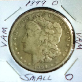 Raw 1899 Morgan Silver Dollar - US Coins