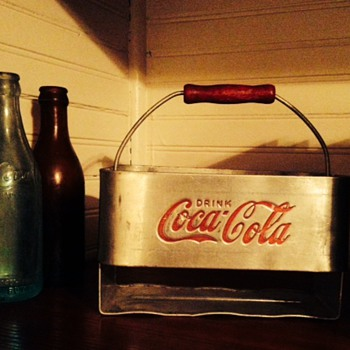 Post war 6 bottle Coca Cola carrier  - Coca-Cola