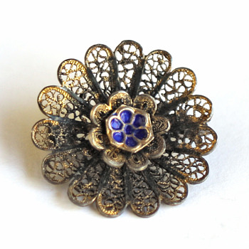 Vintage  filigree brooch - Fine Jewelry
