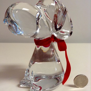 Marcolin Crystal Snoopy Figurine