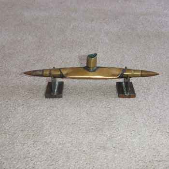 WW1 Trench Art Submarine - Military and Wartime