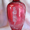 Selection of Cranberry Mary Gregory Glass