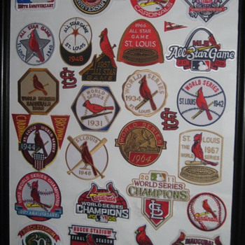 Custom made St Louis Cardinal Patch display - Baseball