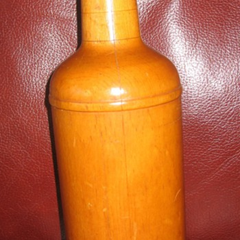 Wooden Bottle - Folk Art