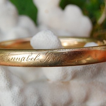 Edwardian bracelet, engraved with Annabel Lee