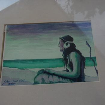 Native American Watercolor Need Help Id Artist - Visual Art