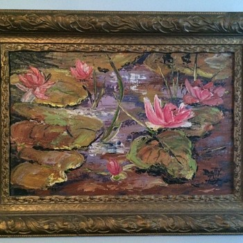 Wonderful Water Lilly Painting  - Visual Art