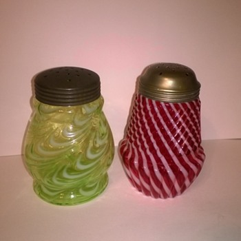 Additional Sugar Shakers - Art Glass