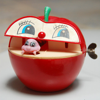 Apple Worm Bank - Junk Treasures Collection