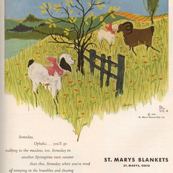 1953 - St. Marys Blankets Advertisement