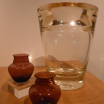 Three vases by Andries Dirk Copier for Leerdam. - Art Glass