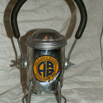 Vintage Railroad Lantern ~ Alaska Railroad (ARR) - Railroadiana