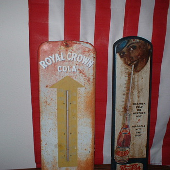 Royal Crown and Pepsi thermometers