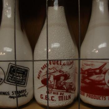 Canadian Milk Bottles With War Slogans.....