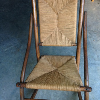 Vintage Cane/Straw Rocking Chair - Furniture