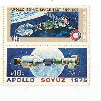 Us Version of the Space Link up USA USSR - Stamps