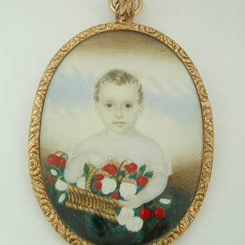 Portrait of a child holding a basket
