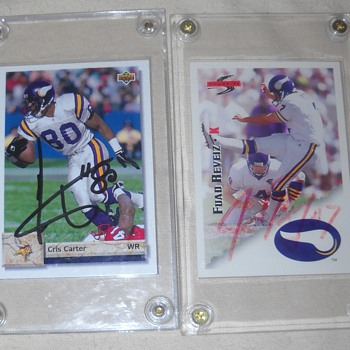 Signed Football Cards - Football