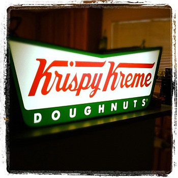 Lighted Krispy Kreme Sign - Signs