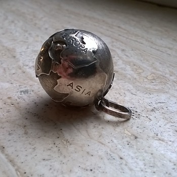 .835 Silver World Globe Pendant, Italy
