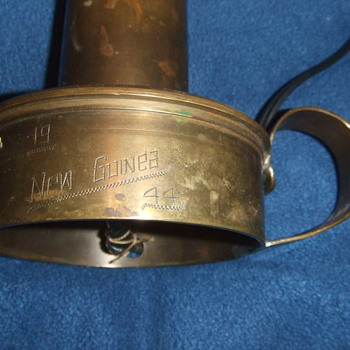 WW2 New Guinea Trench Art lamp - Military and Wartime