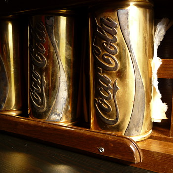 Golden coke cans