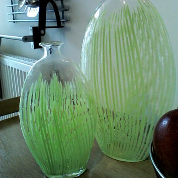 pair of murano, bohemian , Scandinavian vases? - Art Glass