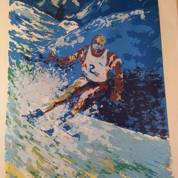 Skier 260/350 - can't make out artist - Posters and Prints
