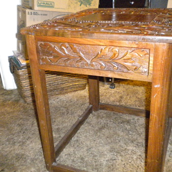 Hnad carved end tables - Furniture