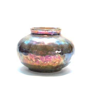 miniature lustre pottery vase by leon elchinger circa 1930