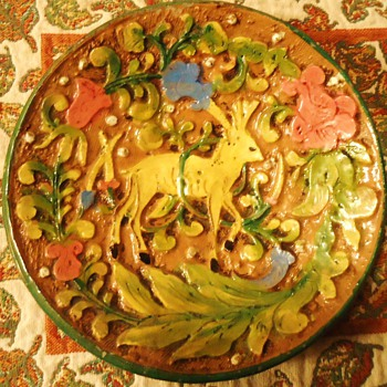 Italian Ceramic Plate from before 1960's ?  Made by?   - Art Pottery
