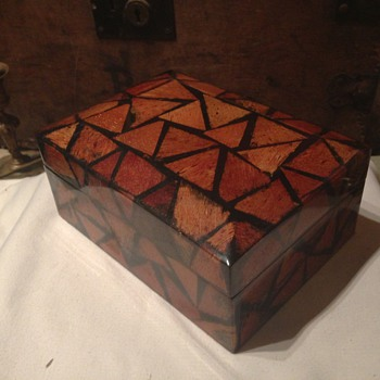 Old Jewellery box ( made from some kind of fur )