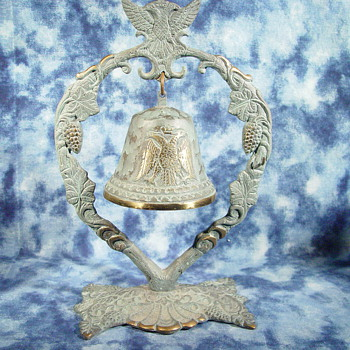 COPPER TWO HEADED EAGLE BELL / GONG.  ANY HELP OUT THERE ?