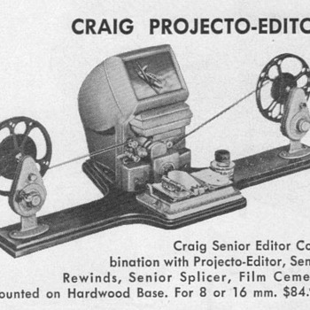 1952 - Kalart Film Editor Advertisement - Advertising