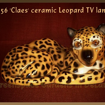 1956 'Claes' ceramic leopard tv lamp - Lamps