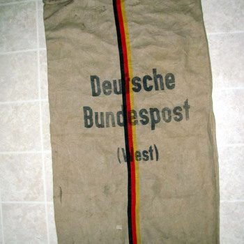 West German Postal Mail Bag - Military and Wartime