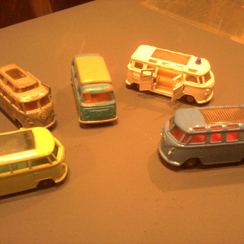 VW Buses by Impy and Matchbox offered great detail.