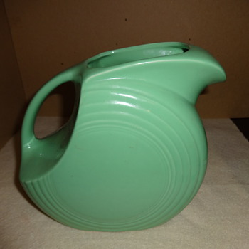 Fiesta Disk Pitcher in green - wondering if vintage or newer item. - Kitchen