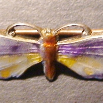 Antique Sterling Moth/Butterfly Pin Charles Thomae