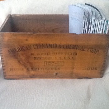 Wooden explosives box  - Advertising